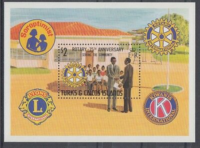 XG-AC067 TURKS & CAICOS IND - Rotary Club, 1980 Serving The Community MNH Sheet