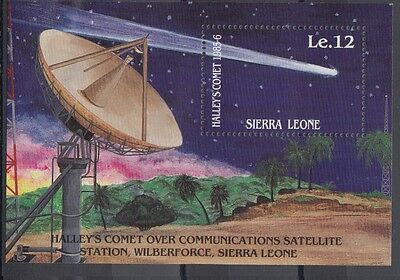 XG-AC384 SIERRA LEONE IND - Halley'S Comet, 1986 Astronomy, Space MNH Sheet