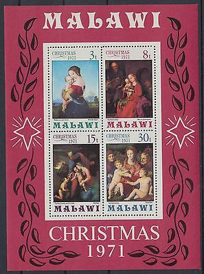 XG-AD462 MALAWI - Paintings, 1971 Christmas MNH Sheet