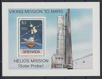 XG-AD055 GRENADA IND - Space, 1976 Helios, Viking Missions MNH Sheet
