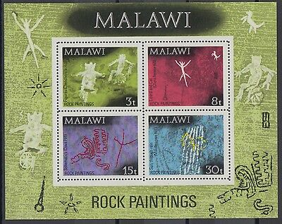 XG-AD464 MALAWI - Archaeology, 1972 Rock Paintings, Pre-Historic MNH Sheet