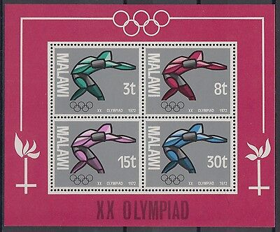 XG-AD465 MALAWI - Olympic Games, 1972 Russia Moscow '80 MNH Sheet