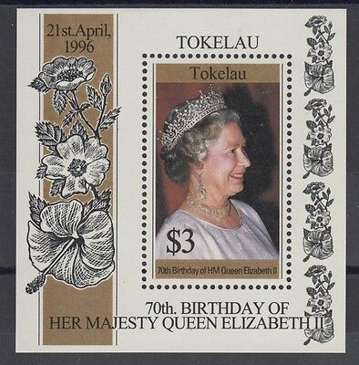 XG-AD013 TOKELAU ISLANDS - Qeii, 1996 70Th Birthday MNH Sheet