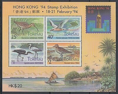 XG-AD007 TOKELAU ISLANDS - Birds, 1994 Hong Kong Expo MNH Sheet