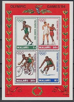 XG-AD498 MALAWI - Olympic Games, 1984 Los Angeles '84, Cycling MNH Sheet