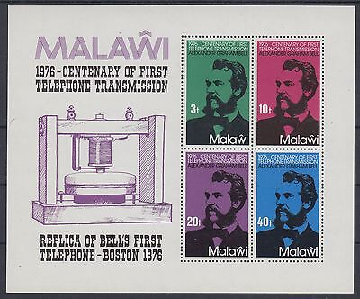 XG-AD478 MALAWI - Telephone, 1976 Graham Bell Centenary MNH Sheet