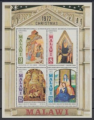 XG-AD466 MALAWI - Paintings, 1972 Italian, Christmas MNH Sheet