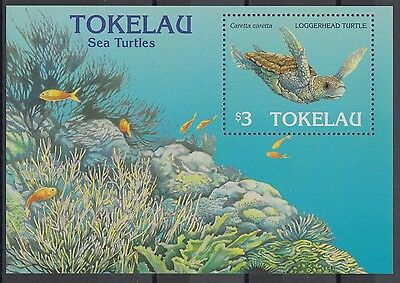 XG-AD014 TOKELAU ISLANDS - Marine Life, 1995 Turtle, Fish MNH Sheet
