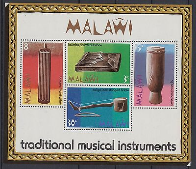 XG-AD469 MALAWI - Music, 1973 Traditional Musical Instruments MNH Sheet