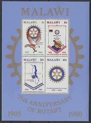 XG-AD492 MALAWI - Rotary Club, 1980 75Th Anniversary MNH Sheet