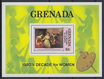 XG-AD083 GRENADA IND - Paintings, 1981 Decade For Women MNH Sheet