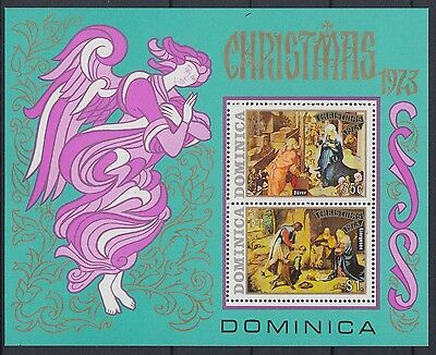 XG-AB903 DOMINICA IND - Paintings, 1973 Christmas, Nativity MNH Sheet
