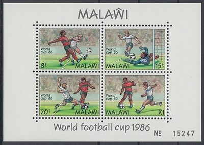 XG-AD501 MALAWI - Football, 1986 Mexico World Cup MNH Sheet