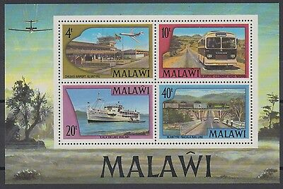 XG-AD483 MALAWI - Transportation, 1977 Ships, Aviation MNH Sheet