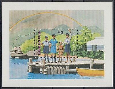 XG-AB931 DOMINICA IND - Girl Guides, 1979 Scouting, Anniversary MNH Sheet