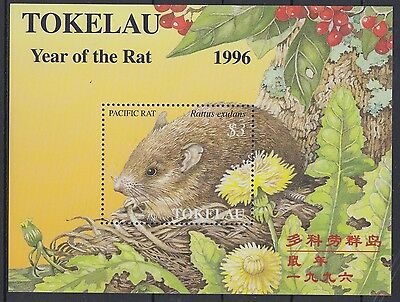 XG-AD011 TOKELAU ISLANDS - New Year, 1996 Of The Rat MNH Sheet