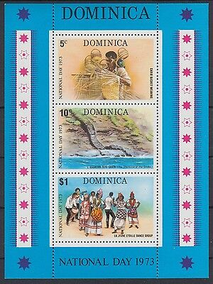 XG-AB904 DOMINICA IND - Handicrafts, 1973 Costumes, National Day MNH Sheet