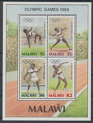 XG-AD502 MALAWI - Olympic Games, 1988 Korea Seoul '88, Tennis MNH Sheet