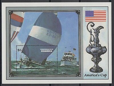 XG-AB989 DOMINICA IND - Ships, 1987 America'S Cup MNH Sheet