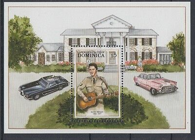 XG-AC004 DOMINICA IND - Music, 1988 Entertainers, Elvis Presley MNH Sheet