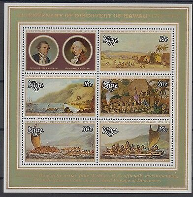 XG-AD577 NIUE IND - Capt. Cook, 1978 Hawaii'S Discovery Bicent. MNH Sheet
