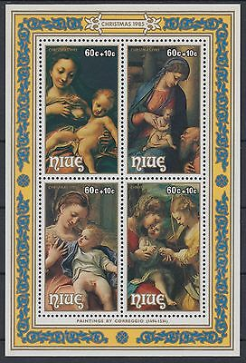 XG-AD619 NIUE IND - Paintings, 1985 Intl. Youth Year MNH Sheet