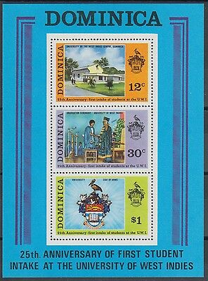 XG-AB905 DOMINICA IND - Architecture, 1974 University Of West Indies MNH Sheet