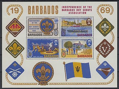 XG-AC786 BARBADOS IND - Boy Scouts, 1969 Association Independence MNH Sheet