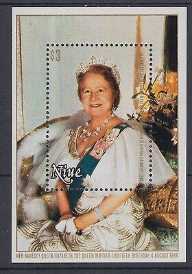 XG-AD586 NIUE IND - Royalty, 1980 Queen Mother 80Th Birthday MNH Sheet