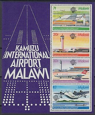 XG-AD497 MALAWI - Aviation, 1983 Kamuzu Intl. Airport MNH Sheet