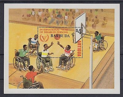 XG-AC502 BARBUDA IND - Intl. Year Of The Disabled, 1981 Overprinted MNH Sheet