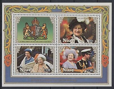 XG-AD632 NIUE IND - Royalty, 1985 Queen Mother 85Th Birthday MNH Sheet