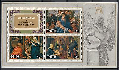 XG-AD579 NIUE IND - Paintings, 1978 Christmas, Durer Anniversary MNH Sheet
