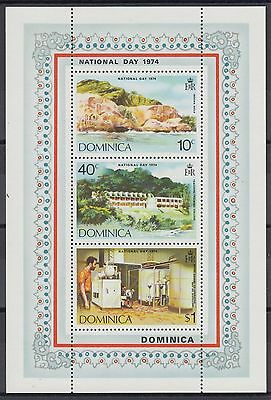 XG-AB906 DOMINICA IND - Tourism, 1974 Industry, National Day MNH Sheet