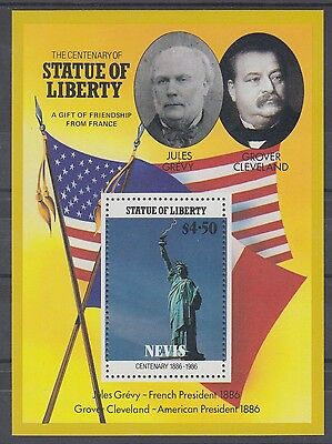 XG-AD566 NEVIS IND - Statue Of Liberty, 1986 Cleveland, Grevy, Flags MNH Sheet