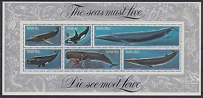 XG-AC039 S. WEST AFRICA IND - Marine Life, 1980 Sea Must Live, Whales MNH Sheet