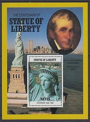 XG-AD567 NEVIS IND - Statue Of Liberty, 1986 William Harrison MNH Sheet