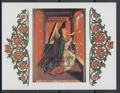 XG-AB994 DOMINICA IND - Paintings, 1987 Christmas, Annunciation MNH Sheet