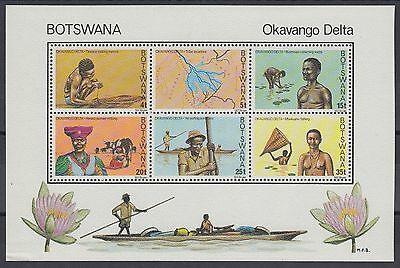 XG-AC912 BOTSWANA - Costumes, 1978 People Of Okavango Delta MNH Sheet
