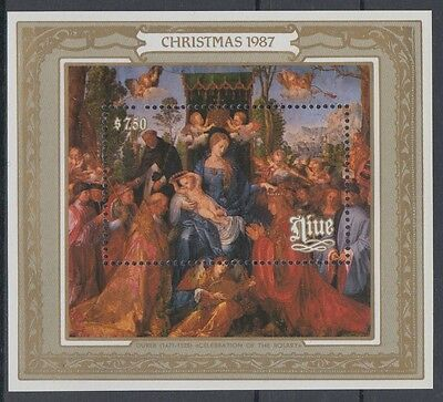 XG-AD635 NIUE IND - Paintings, 1987 Christmas, Durer MNH Sheet