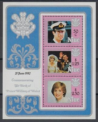 XG-AD591 NIUE IND - Lady Diana, 1982 Birth Of Prince William MNH Sheet