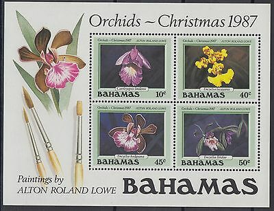XG-AD795 BAHAMAS IND - Flowers, 1987 Orchids, Christmas MNH Sheet