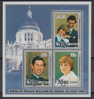 XG-AD642 NIUE IND - Lady Diana, 1982 Birth Of Prince William MNH Sheet