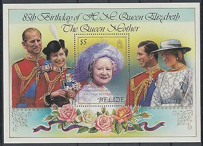 XG-AD852 BELIZE - Royalty, 1985 Queen Mother Commonwealth Conf. Ovp. MNH Sheet