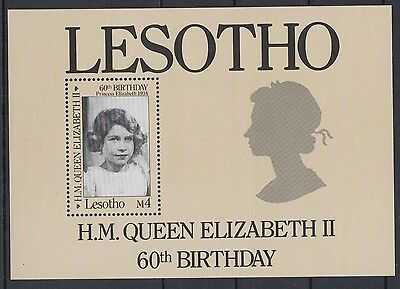 XG-AD412 LESOTHO - Qeii, 1986 60Th Birthday MNH Sheet