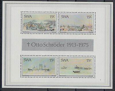 XG-AC035 S. WEST AFRICA IND - Paintings, 1975 Otto Schroder, Ships MNH Sheet