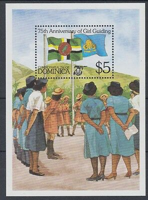 XG-AB967 DOMINICA IND - Girl Guides, 1985 75Th Anniversary, Flags MNH Sheet