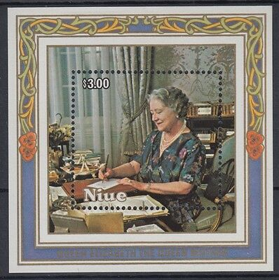 XG-AD614 NIUE IND - Royalty, 1985 Queen Mother 85Th Birthday MNH Sheet