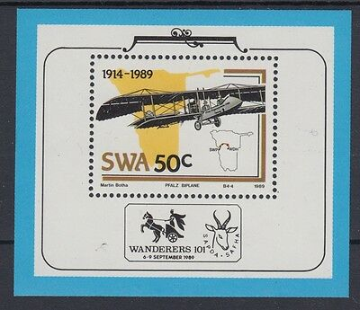 XG-AC044 S. WEST AFRICA IND - Aviation, 1989 75Th Anniversary MNH Sheet