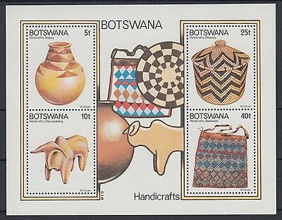 XG-AC913 BOTSWANA - Handicrafts, 1979 Pottery, Clay, Basketry MNH Sheet